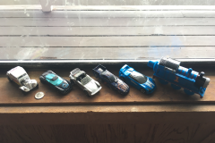 Toy cars: found