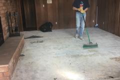 Carpet gone!