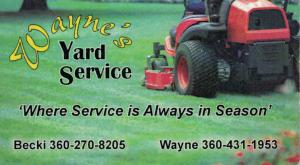Wayne's Yard Service